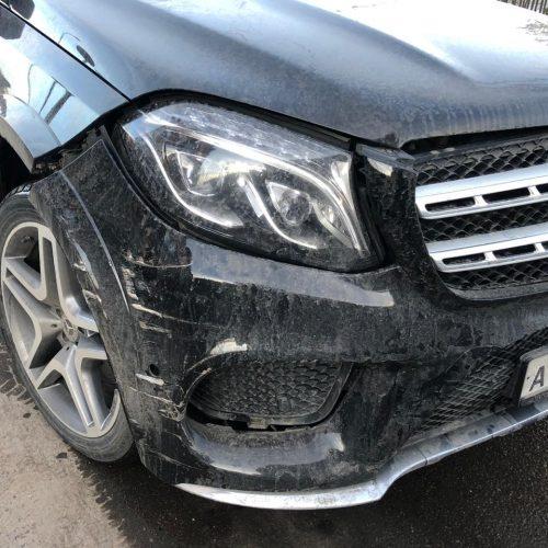 Осмотр Mercedes-Benz - виновник без полиса ОСАГО